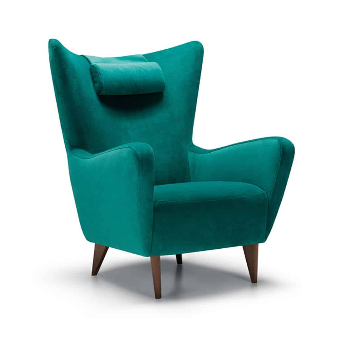 Elsa wingback lounge chair DeFrae Contract Furniture