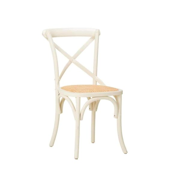 Gem Side Chair Cross Back Wooden Restaurant Chair DeFrae Contract Furniture