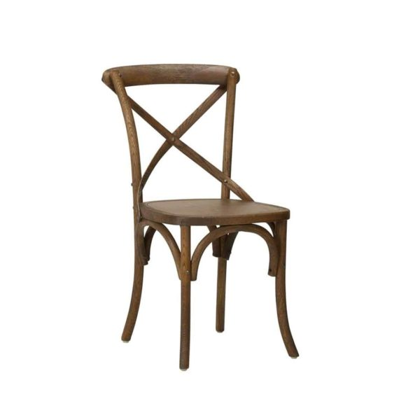 Gem Side Chair Cross Back Wooden Restaurant Chair DeFrae Contract Furniture Oak