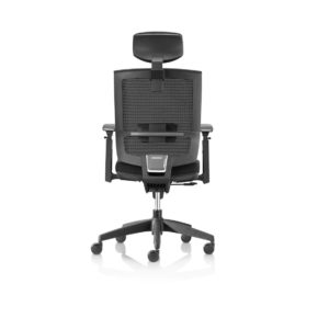 Granada Office Chair with headrest DeFrae Contract Furniture back view