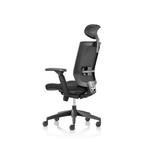 Granada Office Chair with headrest DeFrae Contract Furniture side view