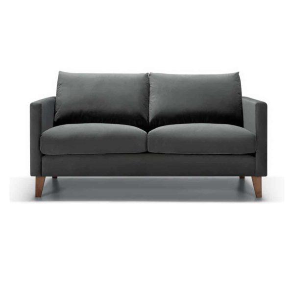 Impulse 2 Seater Sofa Grey DeFrae Contract Furniture