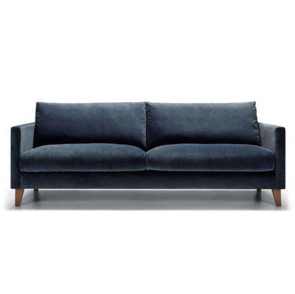 Impulse 3 Seater Sofa Blue DeFrae Contract Furniture