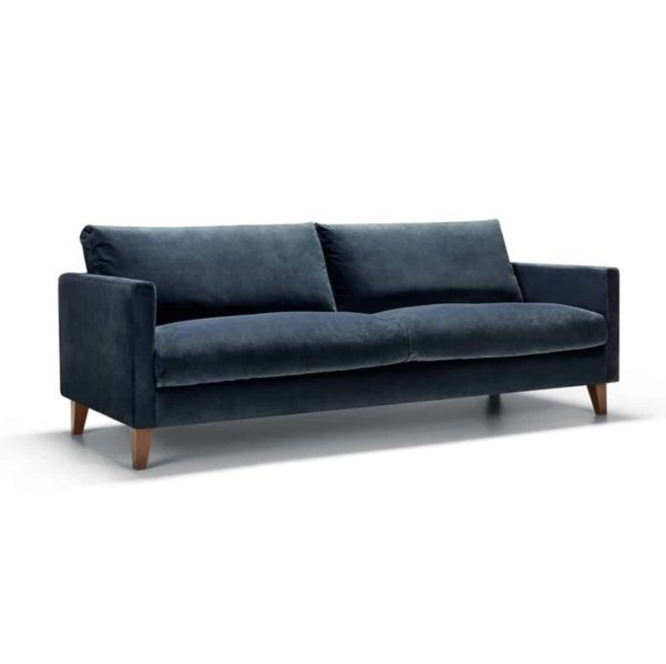 Impulse 3 Seater Sofa Blue DeFrae Contract Furniture Side