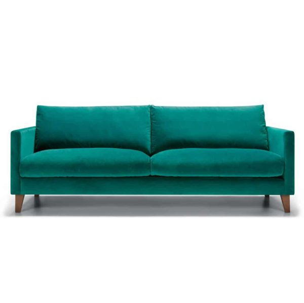 Impulse 3 Seater Sofa Green DeFrae Contract Furniture