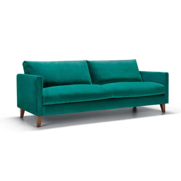 Impulse 3 Seater Sofa Green DeFrae Contract Furniture side