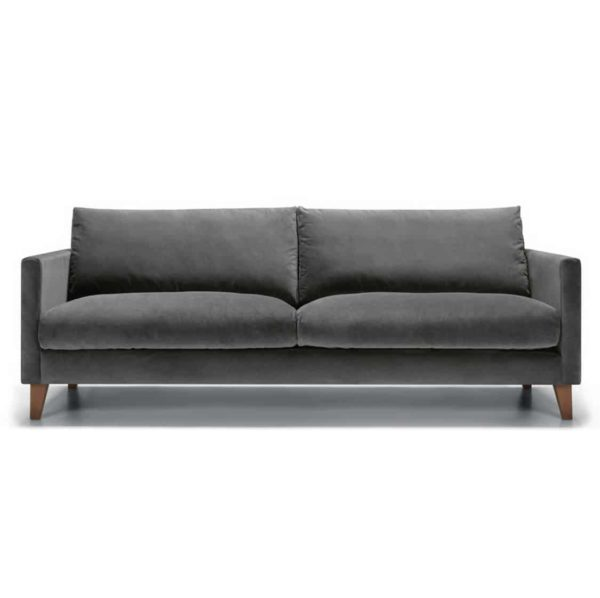 Impulse 3 Seater Sofa Grey DeFrae Contract Furniture