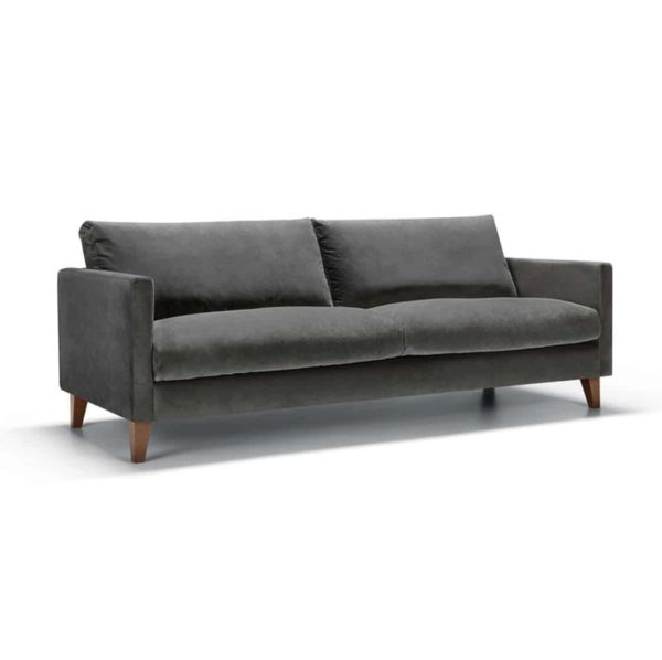 Impulse 3 Seater Sofa Grey DeFrae Contract Furniture Side