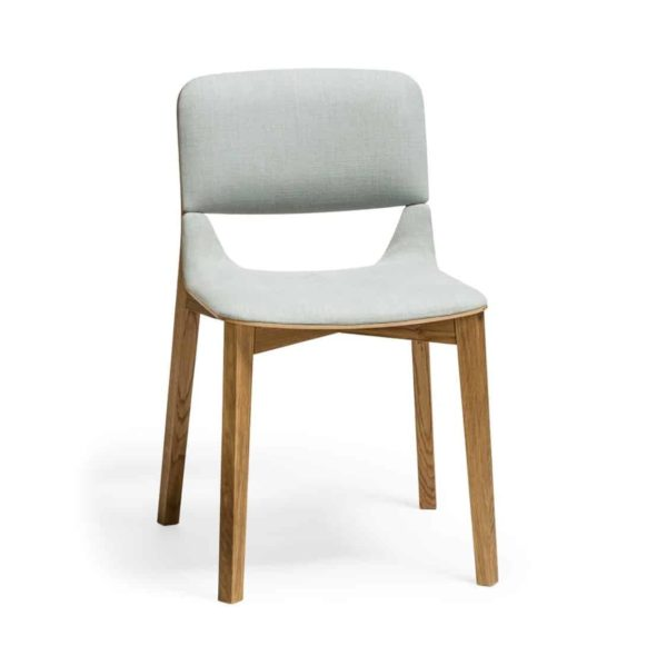 Leaf Side Chair Upholstered Natual Wood Restaurant Chair Ton at DeFrae Contract Furniture