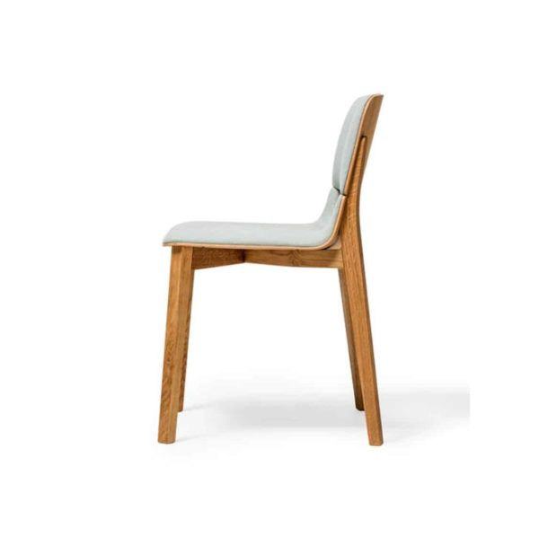 Leaf Side Chair Upholstered Natual Wood Restaurant Chair Ton at DeFrae Contract Furniture Side