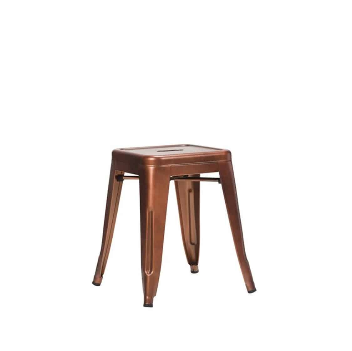 Leon low stool Industrial French Bistro Tolix A Copper