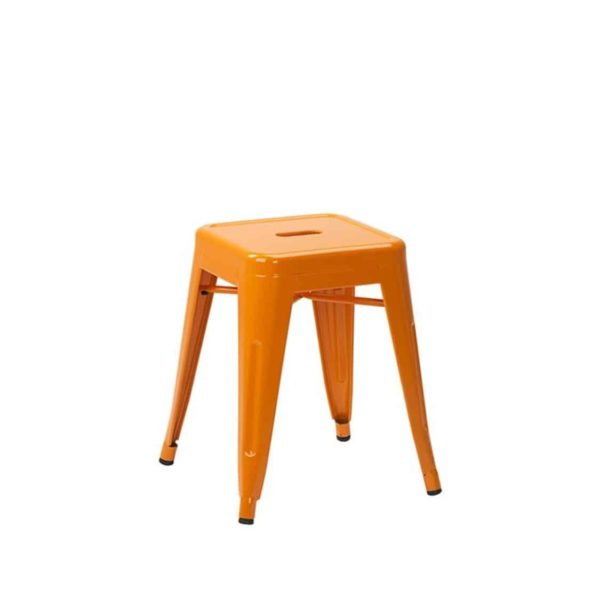 Leon low stool Industrial French Bistro Tolix A Orange RAL Colour