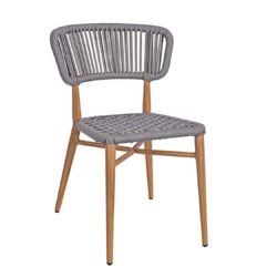 Madrid Side Chair DeFrae Contract Furniture Roped Back Natural