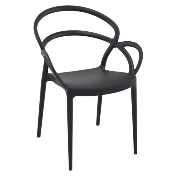 Milan armchair outdoor DeFrae Contract Furniture black