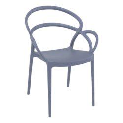 Milan armchair outdoor DeFrae Contract Furniture dark grey