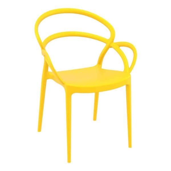 Milan armchair outdoor DeFrae Contract Furniture yellow
