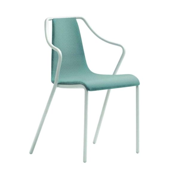 Ola Stackable Armchair Midj available from DeFrae Contract Furniture Leather