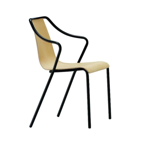 Ola Stackable Armchair Midj available from DeFrae Contract Furniture Wooden Frame