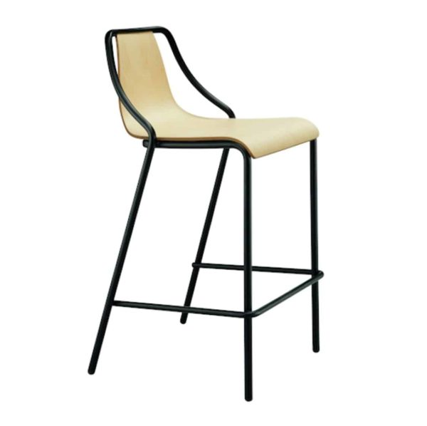 Ola Stackable Bar Stool Midj available from DeFrae Contract Furniture Wooden Frame