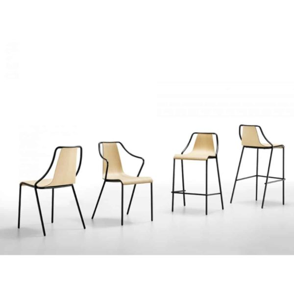 Ola Stackable Range Midj available from DeFrae Contract Furniture Wooden Frame