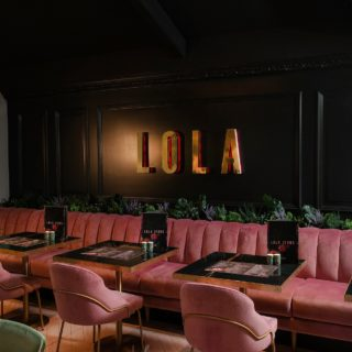 Paris side chairs and Amy side chairs by DeFrae Contract Furniture at Lola Jeans Tynemouth restaurant bar