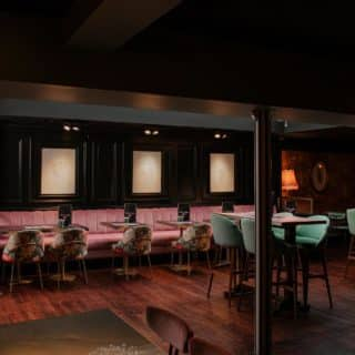 About Paris side chairs and bar stools by DeFrae Contract Furniture at Lola Jeans Tynemouth restaurant bar