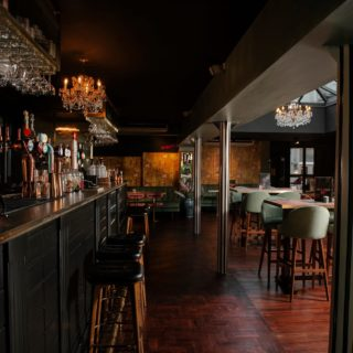 Paris wood bar stools by DeFrae Contract Furniture at Lola Jeans Tynemouth restaurant bar