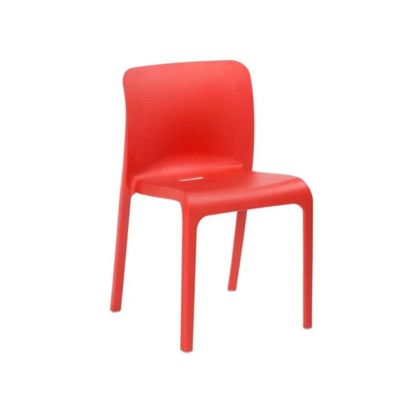 Pop Side Chair Perfect For The NHS Healthcare And Outside Restaurant Bars and Coffee Shops Traffic Red