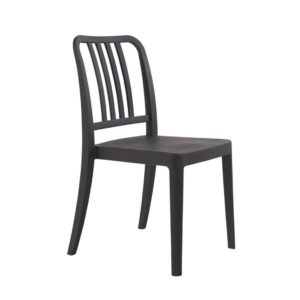 Roc side chair Classic Bistro Side Chair DeFrae Contract Furniture Anthracite
