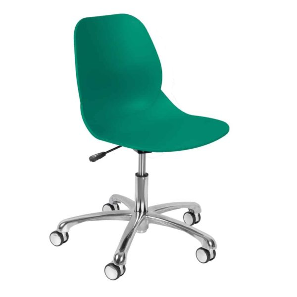 Shoreditch Office Chair DeFrae Contract Furniture Office Aqua Turqoise