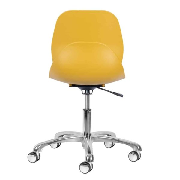 Shoreditch Office Chair DeFrae Contract Furniture Office Mustard Back View