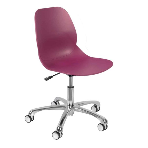 Shoreditch Office Chair DeFrae Contract Furniture Office Pink Plum