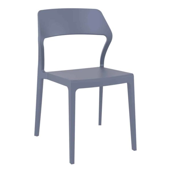Snow Side Chair Outside DeFrae Contract Furniture Dark Grey