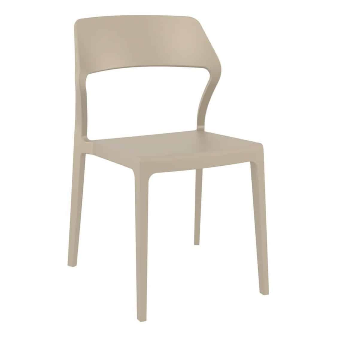Snow Side Chair Outside DeFrae Contract Furniture Taupe