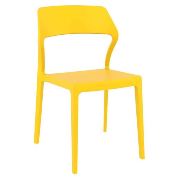 Snow Side Chair Outside DeFrae Contract Furniture Yellow