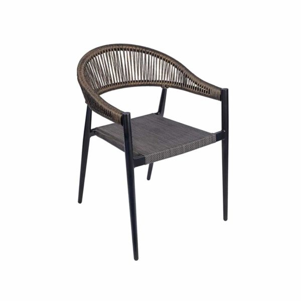 Vienna Armchair DeFrae Contract Furniture Roped Back woven seat
