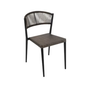 Vienna Side Chair DeFrae Contract Furniture Roped Back woven seat