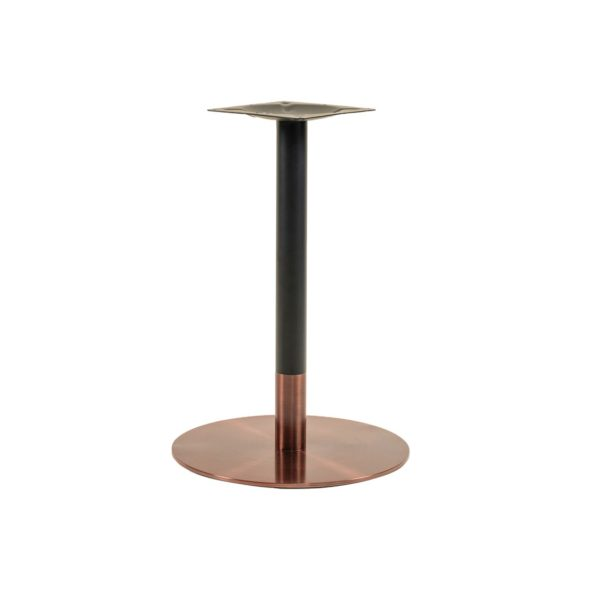 Zeus Table Base Rose Gold & Black DeFrae Contract Furniture