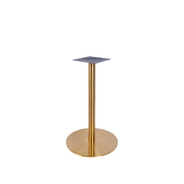 Zeus Table Base brass finish DeFrae Contract Furniture