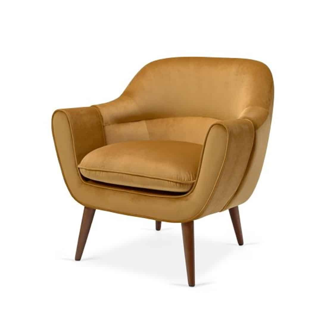 Ada Lounge Armchair XC DeFrae Contract Furniture Mustard