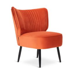 Alberta Cocktail Loung Chair with Fluted back DeFrae Contract Furniture