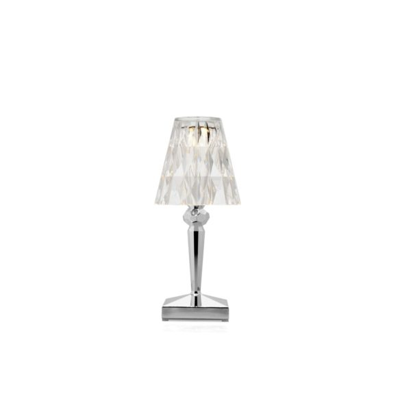 Battery Table Lamp from Kartell at DeFrae Contract Furniture Chrome