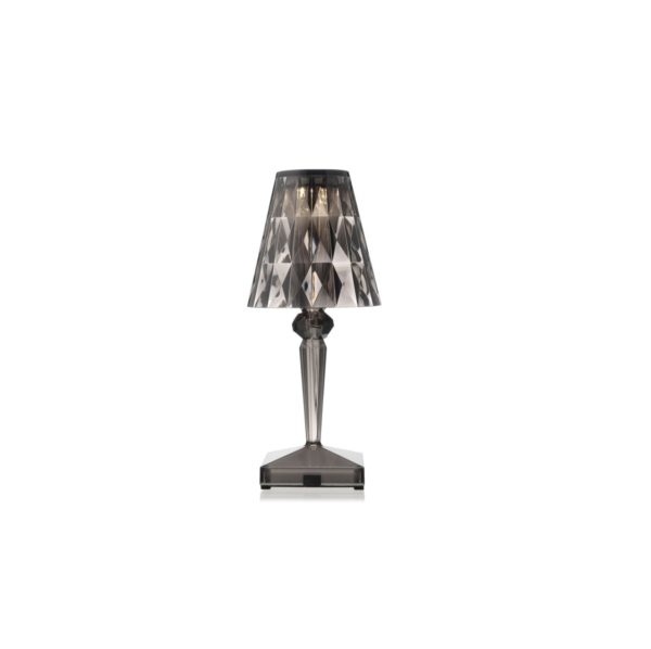 Battery Table Lamp from Kartell at DeFrae Contract Furniture Smoke Grey
