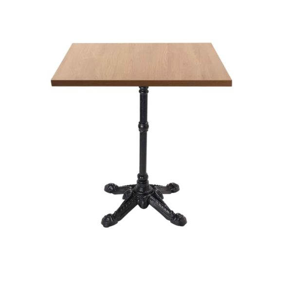 Bistro 4 Leg Table Base Dining Height Square Top