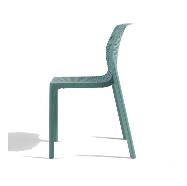 Bit Side Chair Mint Green Side View]
