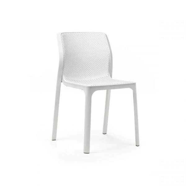 Bit Side Chair White
