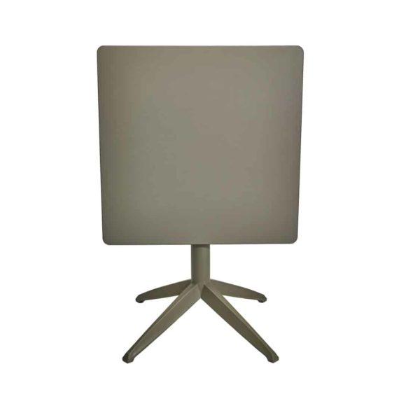 Braga Table base Taupe DeFrae Contract Furniture 700 Square Flip Top Compact Laminate
