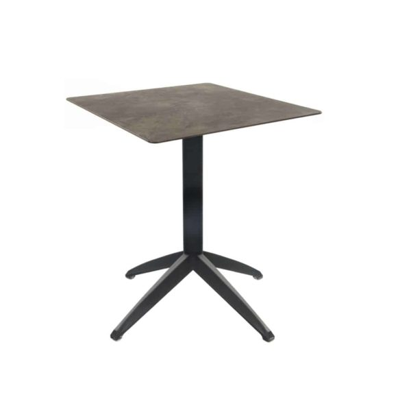 Braga Table base Taupe DeFrae Contract Furniture 700 Square Flip Top Cement Compact Laminate Top