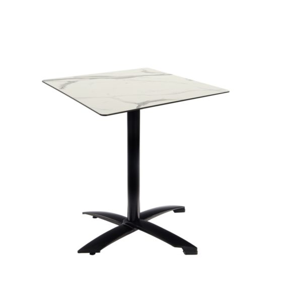 Braga Table base Taupe DeFrae Contract Furniture 700 Square Flip Top White Marble Compact Laminate Top