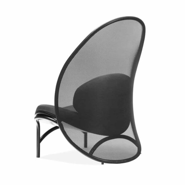 Chips Lounge Chair DeFrae Contract Furniture Black Back View